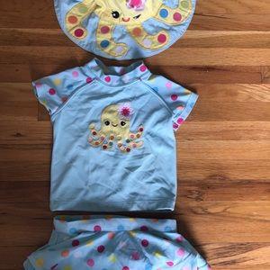 Gymboree adorable 3 piece swimsuit set
